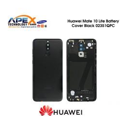 Huawei Mate 10 Lite (RNE-L01, RNE-L21) Battery Cover Incl. Fingerprint Sensor Black 02351QPC