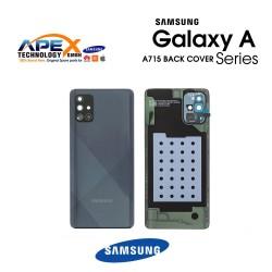 Samsung Galaxy A71 (SM-A715F) Battery Cover Prism Crush Black GH82-22112A