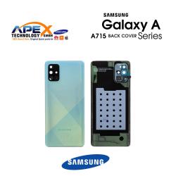 Samsung Galaxy A71 (SM-A715F) Battery Cover Prism Crush Blue GH82-22112C