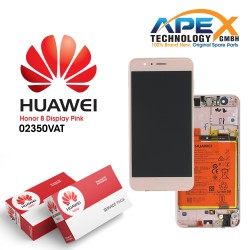 Huawei Honor 8 (FRD-L09, FRD-L19) Lcd Display / Screen + Touch + Battery Pink 02350VAT