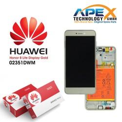 Huawei Honor 8 Lite Lcd Display / Screen + Touch + Battery Gold 02351DWM