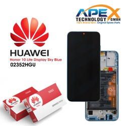 Huawei Honor 10 Lite LCD Display / Screen +Touch + Battery Assembly - Sky Blue - 02352HGU