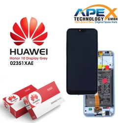 Huawei Honor 10 Lcd Display / Screen + Touch + Battery Assembly - Grey - 02351XAE