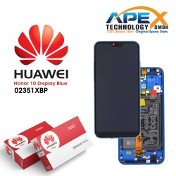 Huawei Honor 10 Lcd Display / Screen + Touch + Battery Assembly - Blue - 02351XBP