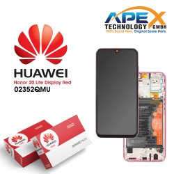 Huawei Honor 20 Lite LCD Display / Screen + Touch + Battery - Red