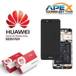 Huawei Honor 6C Lcd Display / Screen + Touch - Battery - Grey - 02351FUV