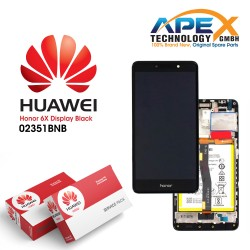 Huawei Honor 6X Premium Lcd Display / Screen + Touch + Battery Assy - Grey - 02351BNB