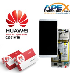 Huawei Honor 7A Lcd Display / Screen + Touch + Battery - White - 02351WER