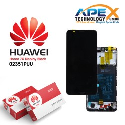Huawei Honor 7X Lcd Display / Screen + Touch + Battery - Black - 02351PUU