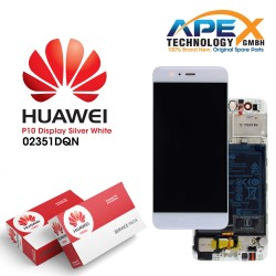 Huawei P10 (VTR-L09, VTR-L29) Display module LCD / Screen + Touch + Battery White 02351DQN