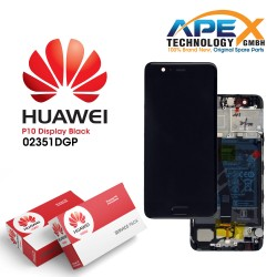 Huawei P10 (VTR-L09, VTR-L29) Display module LCD / Screen + Touch + Battery Black 02351DGP
