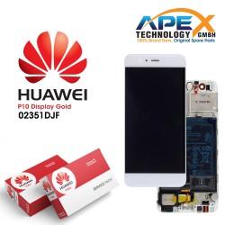 Huawei P10 (VTR-L09, VTR-L29) Display module LCD / Screen + Touch + Battery Gold 02351DJF