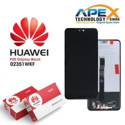 Huawei P20 (EML-L09, EML-L29) Lcd Display / Screen + Touch Black 02351WKF