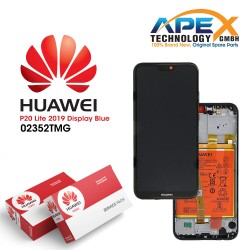 Huawei P20 Lite 2019 (GLK-L21) Lcd Display / Screen + Touch + Battery Crush Blue 02352TMG