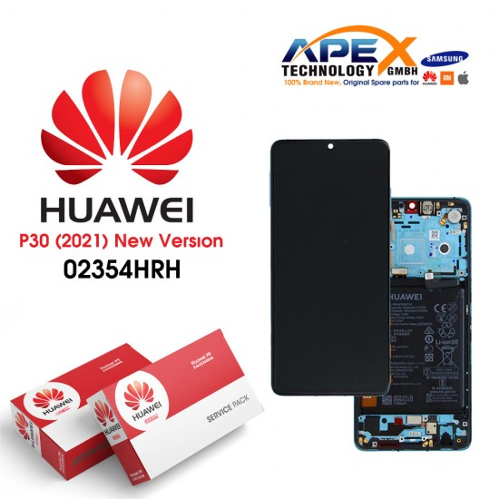 Huawei P30 (New Version 2021) Lcd Display / Screen + Touch + Battery Blue 02354HRH