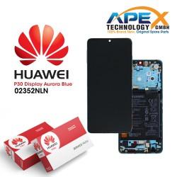 Huawei P30 (ELE-L09 ELE-L29) Lcd Display / Screen + Touch + Battery Aurora Blue 02352NLN
