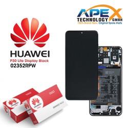 Huawei P30 Lite (MAR-LX1A MAR-L21A) Lcd Display / Screen + Touch + Battery Midnight Black 02352RPW