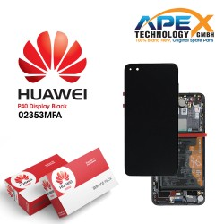 Huawei P40 (ANA-NX9 ANA-LX4) Lcd Display / Screen + Touch + Battery Black 02353MFA