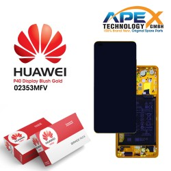 Huawei P40 LCD Display / Screen + Touch + Battery Assembly - Blush Gold 02353MFV
