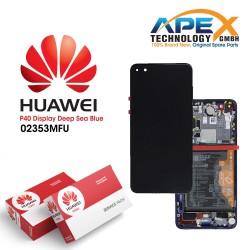 Huawei P40 (ANA-NX9 ANA-LX4) Lcd Display / Screen + Touch + Battery Deep Sea Blue 02353MFU