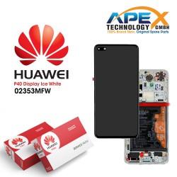 Huawei P40 (ANA-NX9 ANA-LX4) Lcd Display / Screen + Touch + Battery ice White 02353MFW