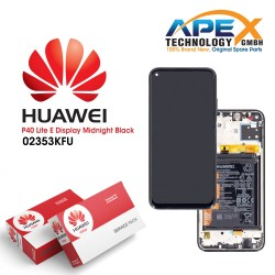 Huawei P40 Lite (JNY-L21A JNY-LX1) Lcd Display / Screen + Touch + Battery Midnight Black 02353KFU