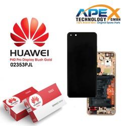Huawei P40 Pro (ELS-NX9 ELS-N09) Lcd Display / Screen + Touch + Battery Blush Gold 02353PJL