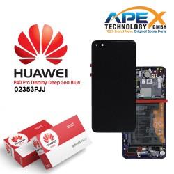 Huawei P40 Pro (ELS-NX9 ELS-N09) Lcd Display / Screen + Touch + Battery Deep Sea Blue 02353PJJ