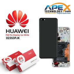 Huawei P40 Pro (ELS-NX9 ELS-N09) Lcd Display / Screen + Touch + Battery ice White 02353PJK