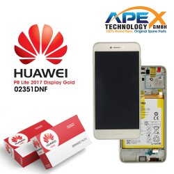 Huawei P8 Lite 2017 (PRA-L21) Lcd Display / Screen + Touch + Battery Gold 02351DYP