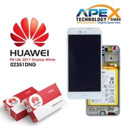 Huawei P8 Lite 2017 (PRA-L21) Lcd Display / Screen + Touch + Battery White 02351DYN