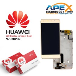 Huawei Y6 ll Compact LCD Display / Screen + Touch + Battery Assembly - Gold