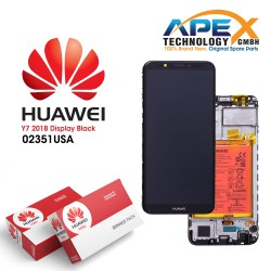 Huawei Y7 (2018) LCD Display / Screen + Touch + Battery Assembly - Black