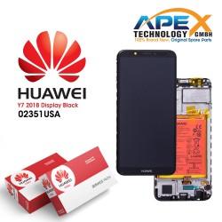 Huawei Y7 2018 (LDN-L01, LDN-L21) Lcd Display / Screen + Touch + Battery Black 02351USA