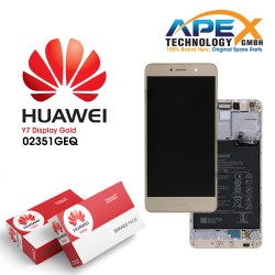 Huawei Y7 (TRT-L21) Lcd Display / Screen + Touch + Battery Gold 02351GEQ