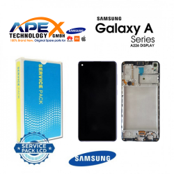 Samsung Galaxy A22 (SM-A226F 5G) Lcd Display / Screen + Touch + Frame Black With Battery GH82-26241A