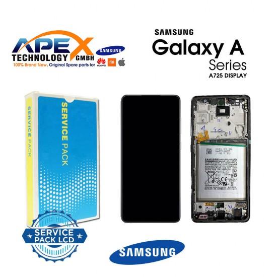 Samsung Galaxy A72 4G / 5G 2021 (SM-A725 / A726 ) Lcd Display / Screen + Touch Black GH82-25463A OR GH82-25624A OR GH82-25460A