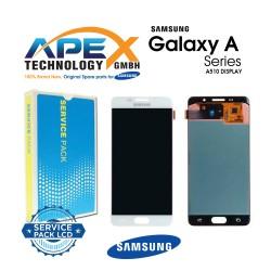 Samsung Galaxy A5 2016 (SM-A510F) Lcd Display / Screen + Touch White GH97-18250A