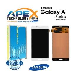 Samsung Galaxy A7 2016 (SM-A710F) Lcd Display / Screen + Touch White GH97-18229C