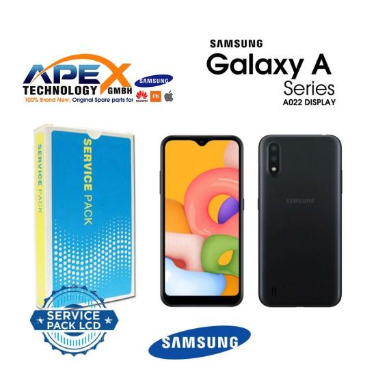 Samsung SM-A022 Galaxy A02 Lcd Display / Screen + Touch Black + Btry  -  GH82-25250A