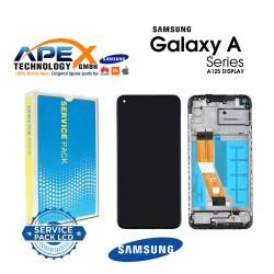 Samsung SM-A125 Galaxy A12 Lcd Display / Screen + Touch Black + Btry - GH82-24708A OR GH82-24709A