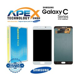 Samsung Galaxy C7 Pro (SM-C701F) Lcd Display / Screen + Touch Black White GH97-19135A