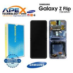 Samsung Galaxy Z Flip (SM-F700F) Lcd Display / Screen + Touch mirror Purple GH82-22215B
