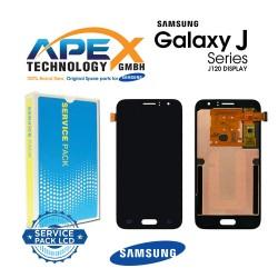 SAMSUNG SM-J120 GALAXY J1 (2016) LCD DISPLAY / SCREEN + TOUCH - Black-GH97-18224C