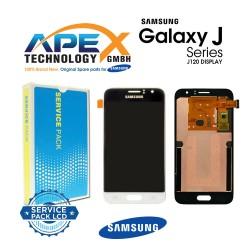Samsung SM-J120 Galaxy J1 (2016) Lcd Display / Screen + Touch - White-GH97-18224A
