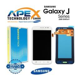 Samsung SM-J200 Galaxy J2 LCD Display / Screen + Touch - White