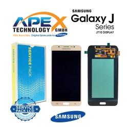 Samsung Galaxy J7 2016 (SM-J710F) Lcd Display / Screen + Touch Gold GH97-18931A