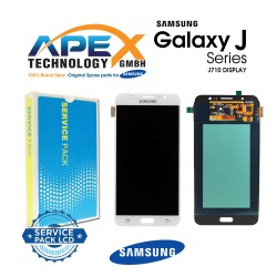Samsung Galaxy J7 2016 (SM-J710F) Lcd Display / Screen + Touch White GH97-18931C