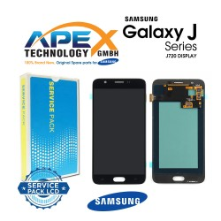 Samsung SM-J720 Galaxy J7 Duo LCD Display / Screen + Touch - Black