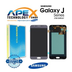 Samsung SM-J720 Galaxy J7 Duo LCD Display / Screen + Touch - Silver